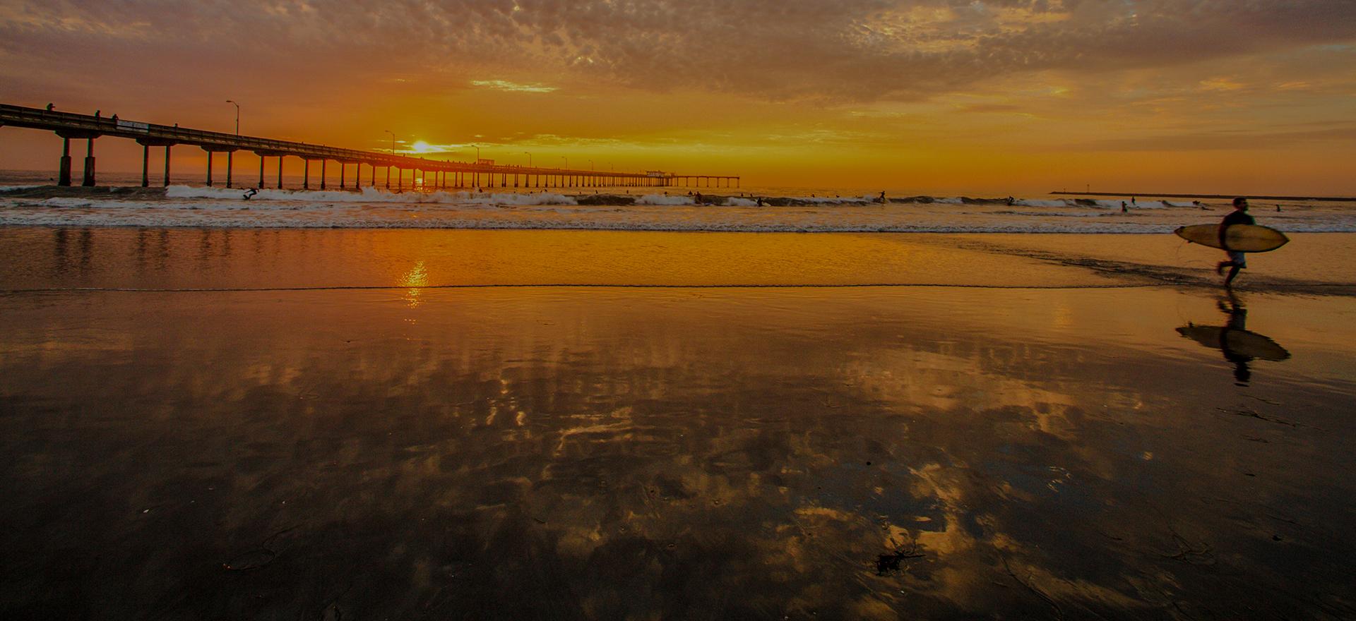 San Diego beach pier