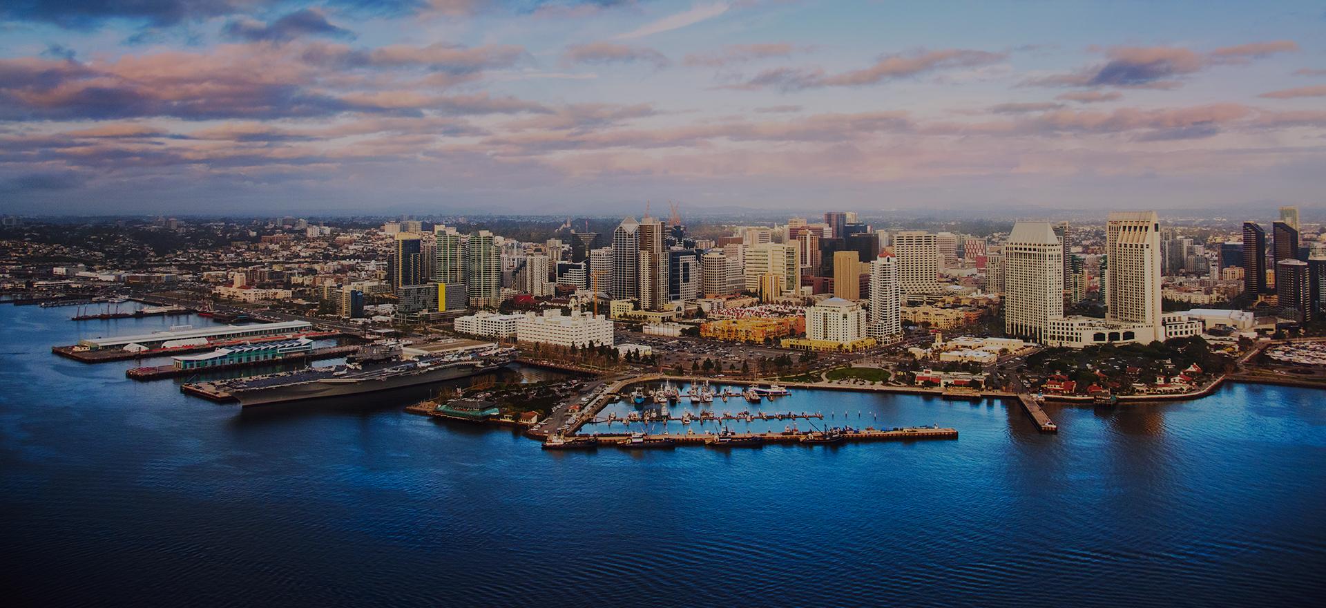 San Diego aerial skyline